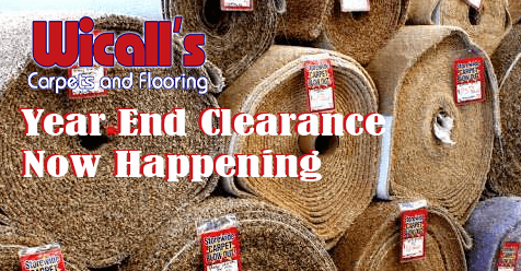 Year End Clearance NOW at Wicall's Carpets & Flooring